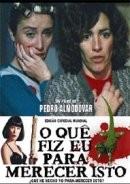 """Pôster do filme """"O que eu fiz para mercer isto?"""", de Pedro Almodóvar"""