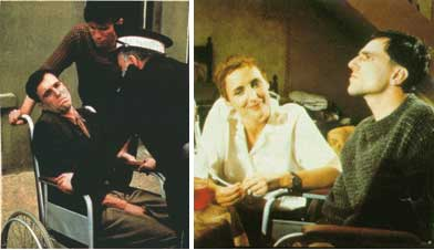 """Cenas do filme """"Meu pé esquerdo"""", de Noel Pearson"""